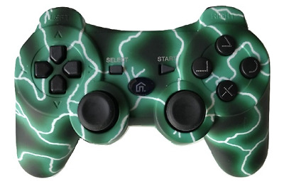 New Design Wireless Bluetooth Game Controller for SONY Playstation 3 PS3 - Green