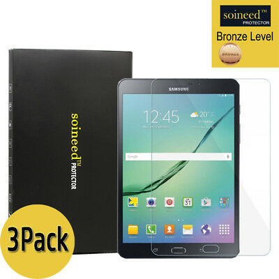 """3Pack SOINEED Samsung Galaxy Tab S2 8.0"""" T710 T713 WiFi Tempered Glass Protector"""