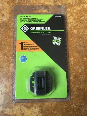 GREENLEE PA4003 Die Set,HDMI Terminating,2 Pc For HDFT Connectors