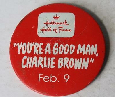Peanuts You're A Good Man Charlie Brown Pin Hallmark Hall of Fame February 9th