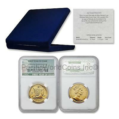 Isle of Man 1994 One Noble 1 oz Gold NGC PF69 ULTRA CAMEO COA and Box SKU#6499