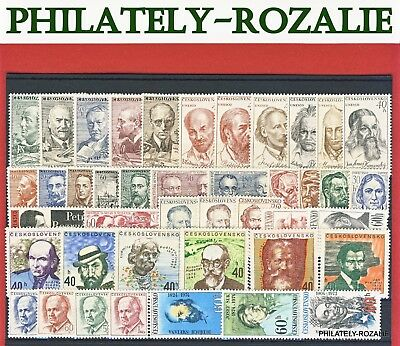 Czechoslovakia  Stamps ** Mnh ** Year  1961 - 1974 Historical Figures