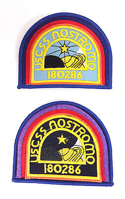 ALIEN Movie- USCSS Nostromo Patch Set of 2- Mailed from USA (ALPA-Set-2-ND)