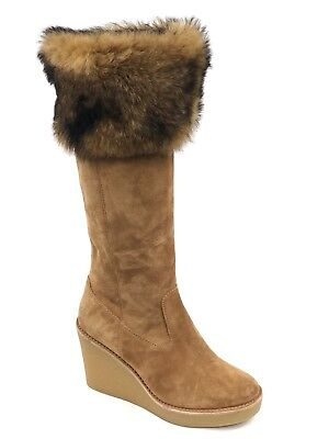 e57a3dfa857 UGG VALBERG CHESTNUT Size 7 TOSCANA FUR CUFF SUEDE WEDGE TALL BOOTS ...