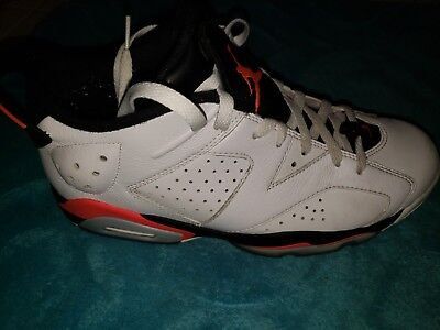 c59f74db9f75 JORDAN 6 RETRO Low White Infrared Mens Size 9.5 -  70.00