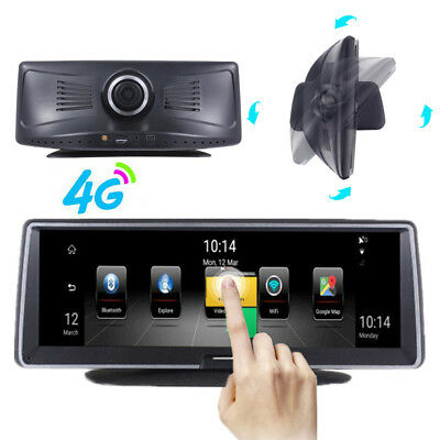 """360° Rotating Android 5.1 Car Dash Camera 7.8"""" FHD Recorder GPS Wifi + Free Maps"""
