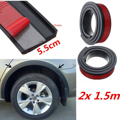 55mm Car Wheel Fender Extension Flares Arch Protector Rubber Moulding Retrofit