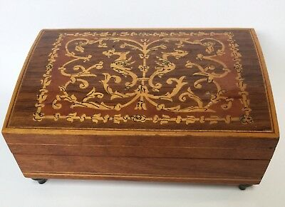 Vintage Sorrento Music Box Marquetry Inlay Made In Italy $49 Free Post