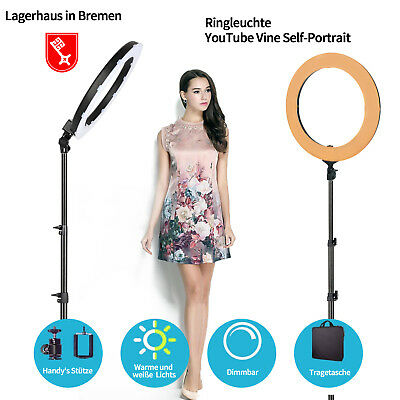 ZOMEI 14/18Inch LED Ring Light Lamp With stand For Studio YouTube Video Live