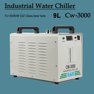 110V CW-3000 Thermolysis Industrial Water Chiller for 60W/ 80W CO2 Laser Tube