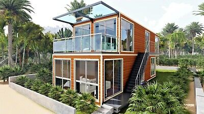 2Bed/2Bath 1280 sqft Luxury Dplex/SFR Shipping Container Hm Financing Available!