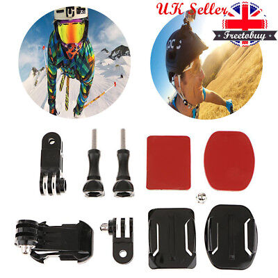 Helmet Front Side Mounting Kit with Curved & Flat mount for Gopro HD 2 3 3+ 4 uk
