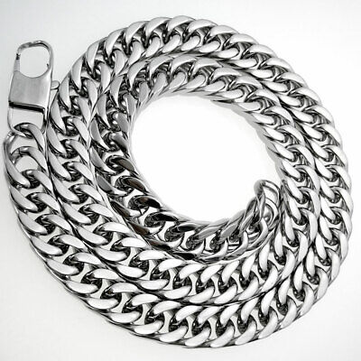 10mm width 50CM-70CM 316L Solid heavy stainless steel necklace Curb Chain