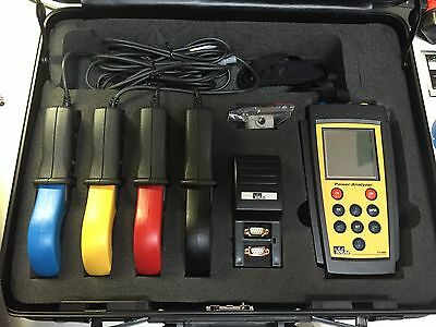 Ideal 61-806 Power Analyzer With (4) Cpr Clamps  And Accessories