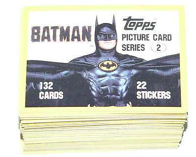 1989 Topps BATMAN MOVIE series 2 -132 cards,all clean, no wax or gum no stickers
