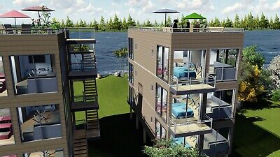 40'ft X 12 Luxury 6 Unit Shipping Container Home 2Bd/2Bth 640sqft(6)Fin Avail !!