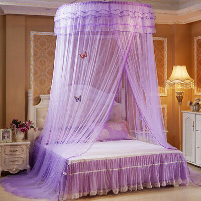 Round Dome Mesh Lace Mosquito Net Bed Canopy Bedding Netting Princess AU