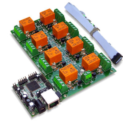 Ethernet / Internet 16 Channel Relay Board: IP, SNMP, Windows / Android Software