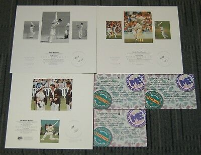 Australia Cricket Chappell Harvey Hand Signed Micro Edition Limited Prints Smith