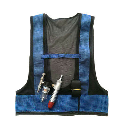 Welding Steel Air Compressed Cooling Vest Vortex Tube Air Conditioner Vest Blue