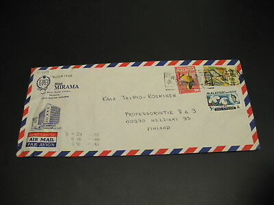 Malaysia 1972 airmail cover to Finland wrinkles *14702
