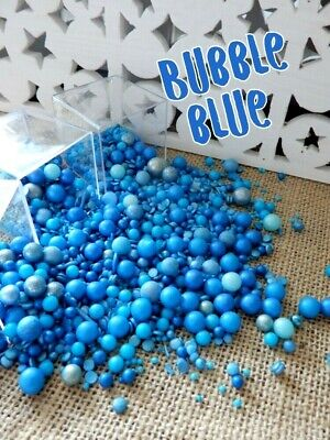 45g BUBBLE BLUE DELUXE BLEND SPRINKLES TURQUOISE DARK BLUE CUPCAKES DECORATIONS