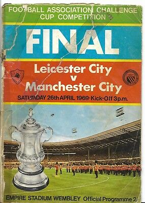 1969 Fa Cup Final Programme -  Manchester City V Leicester City