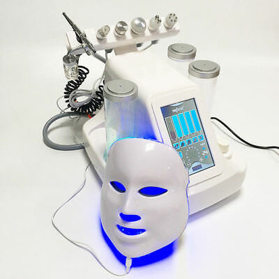 7in1 Hydra Water Jet Dermabrasion Oxygen LED Mask BIO RF lifting Facial Machine