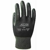 Marigold NYT630 Premium Black Nitrile Coated Builders Mechanics Work Gloves