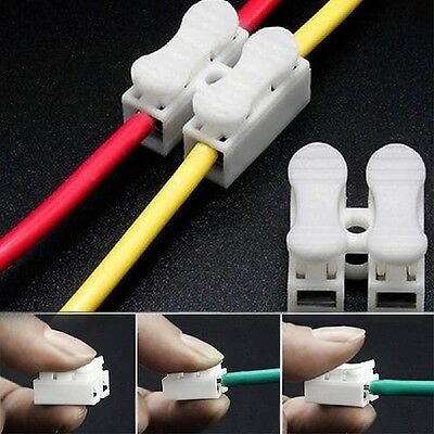 10Pcs Sample Quick Wiring Electric Wire Connector Terminal Block CH2 Cable·Clamp