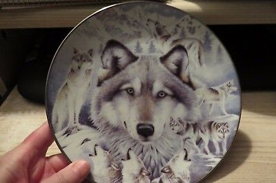 "Beautiful Bradford Exchange Collector  ""vision Of The Pack"" Wolf Plate # 930 A"