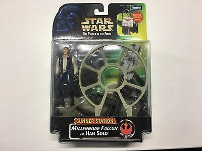 Star Wars Power of the Force Gunner Station Millennium Falcon with Han Solo