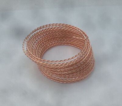 Twisted 1mm BARE COPPER WIRE - jewellery wire 5m - uncoated