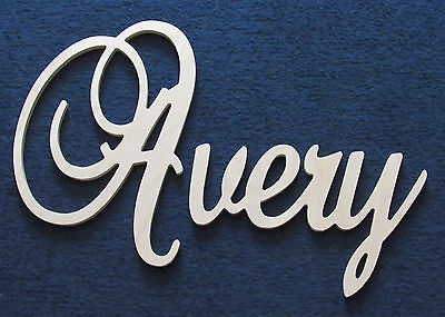 "12"" Capital Unpainted Connected Large Cursive Script Wall Name Wedding Baby"