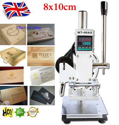 8*10cm Manual Digital Hot Foil Stamping Machine PVC Card Leather Bronzing 220V