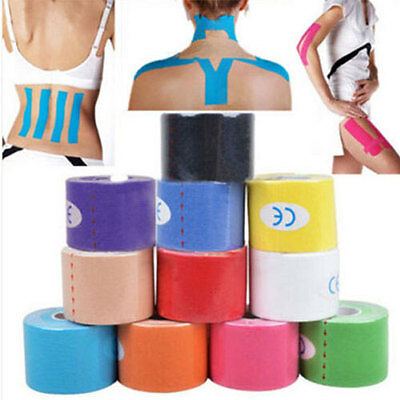 Women 1Roll 5M Kinesiology Sports Tape Muscles Care Elastic Physio Therapeutic