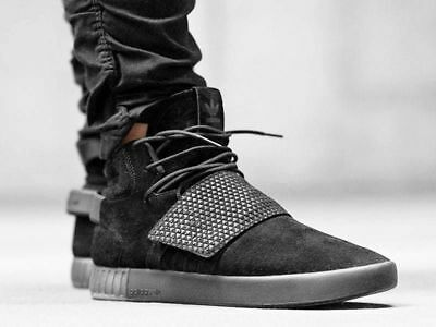sale retailer 3b920 a4144 NEW ADIDAS ORIGINALS Tubular Invader Strap Men's Shoes Black BY3632 Size 12  NEW