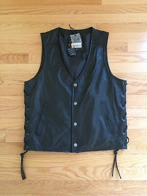 Official Motorclothes Harley-Davidson Men's Pathway Leather Vest - SMALL