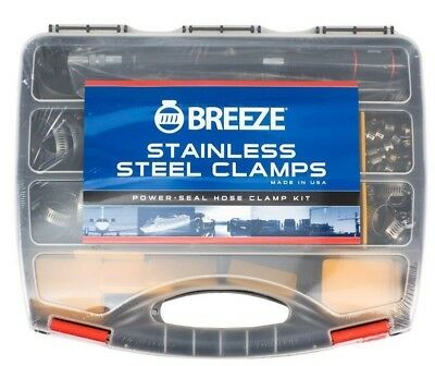 Hose Clamp Kit Breeze 100 Piece All 304 Grade Full Stainless Steel Usa Made