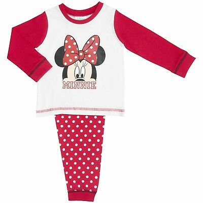 NEW OFFICIAL Disney Minnie Mouse Baby Girls Nightwear Pyjamas PJs Pyjama Set