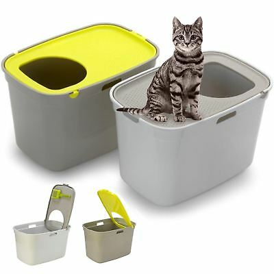Cat Centre ® Large Top Entry Litter Tray Extra Deep XL High Sided Covered Toilet