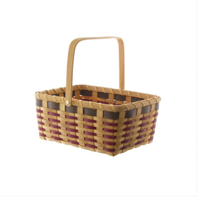 Woven Basket Picnic Hamper Rectangle Natural (31x22.5x13.5cmH)
