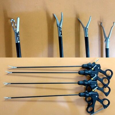 4Pc Laparoscopic Maryland Right Angle Babcock Grasping Forceps Instrument 5mm