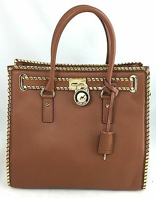 acd9c3f64c08 MICHAEL KORS HAMILTON Large NS North South Whipped Stitched Luggage LEATHER  NWT