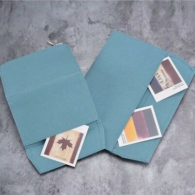 Zipper Cloth Insert for Travelers Notebook Credit Card Holder Olive & Blue
