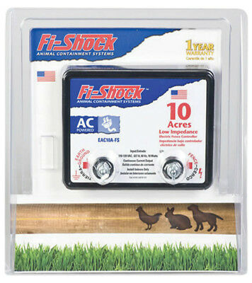 Fi-Shock EAC10A-FS Electric Fence Energizer, 10-Acre