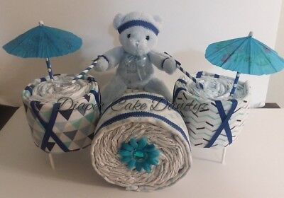 drum diaper cake for baby boy
