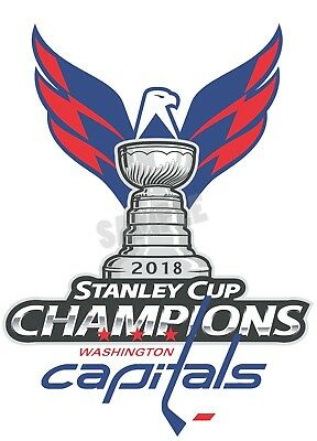 Washington Capitals 2018 Stanley Cup Champions Decal / Sticker