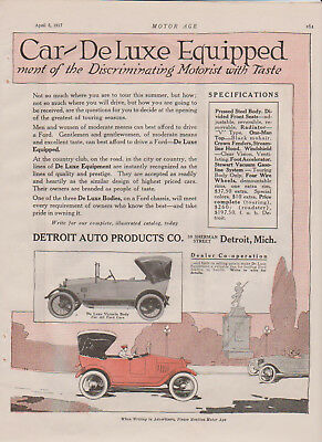 Ford Deluxe Body Advertisement, 1917. Model T?