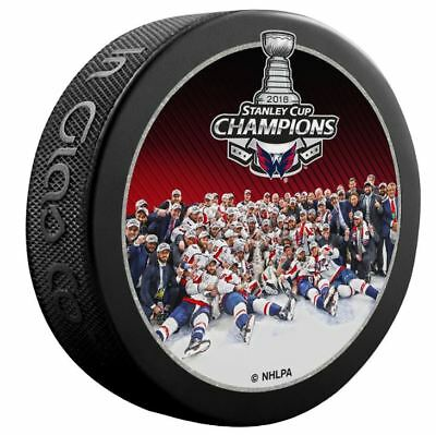 2018 Stanley Cup Final Team Photo Champions Puck Washington Capitals Champs